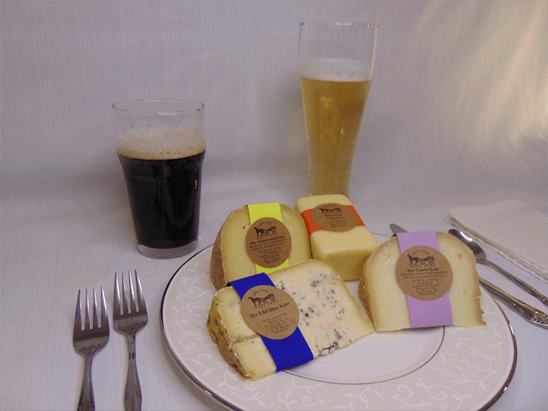 Beer pairing with bleu, matterscaf, gouda, and german kase