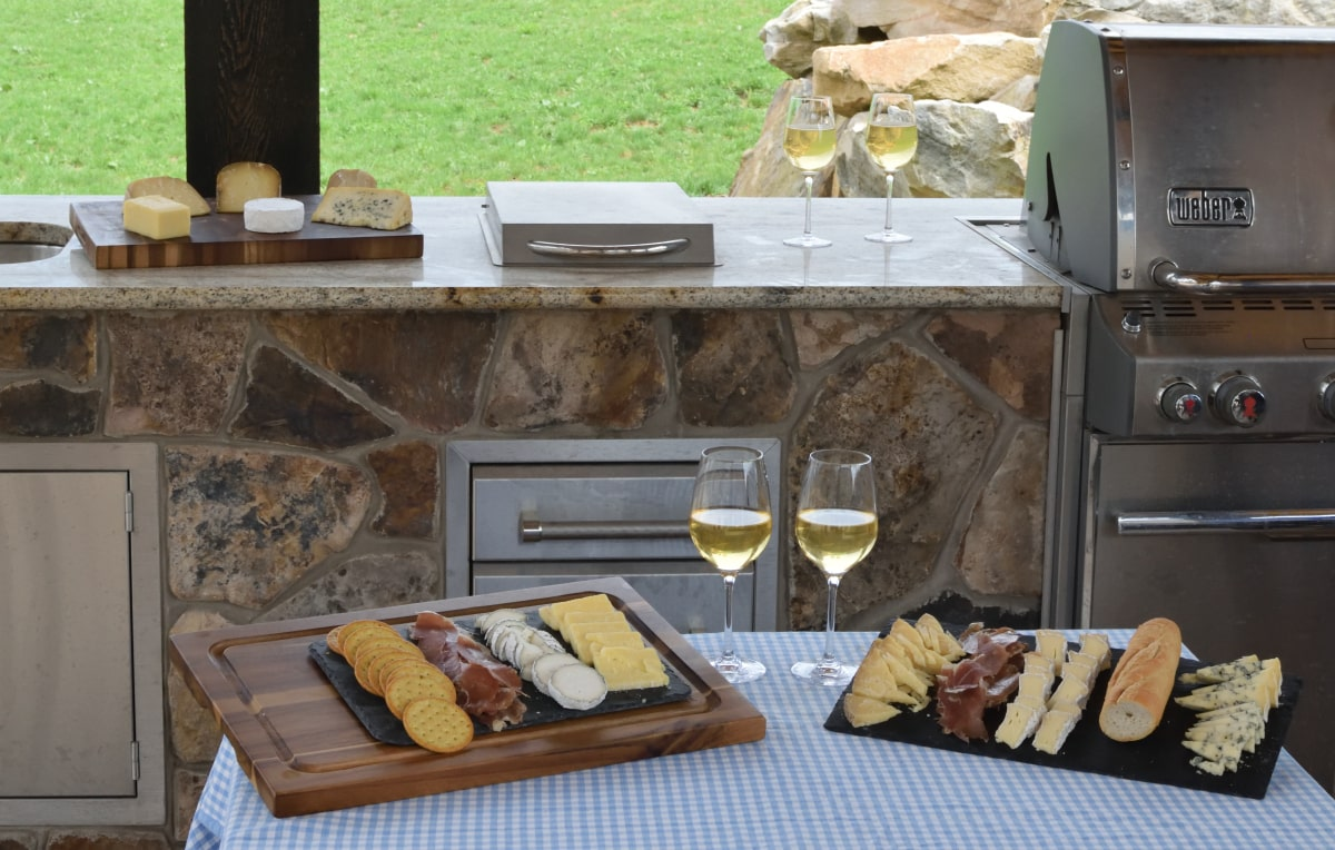 Cheese Platter outdoors